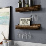Bernon Wall Mounted Wine Glass Rack (Set of 2) by Trent Austin Design