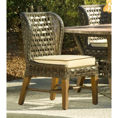 Lake Geneva Patio Dining Chair with Cushion (Set of 2) Fabric Color: 6350-94