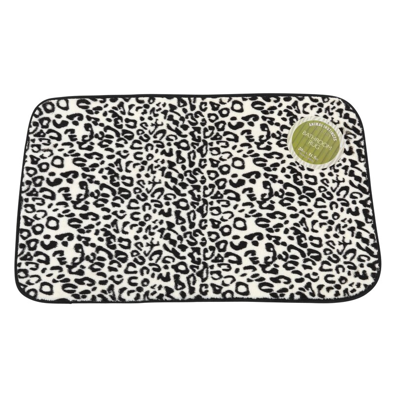Jonah Snow Leopard Faux Fur Bath Mat