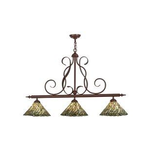 Meyda Tiffany Greenbriar 3-Light Pool Table Lights Pendant