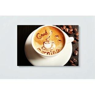 Coffee Motif Magnetic Wall Mounted Cork Board By Ebern Designs
