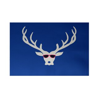 Compare Decorative Holiday Print Royal Blue Indoor/Outdoor Area Rug By The Holiday Aisle