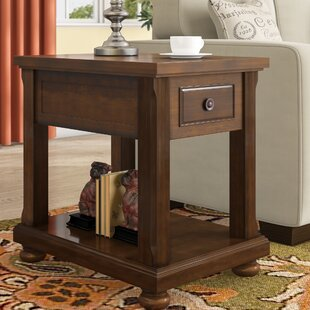 Edward End Table With Storage by Three Posts