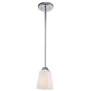 Thiel 1-Light Square/Rectangle Pendant by Latitude Run