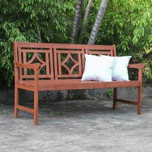 Stephenie Patio Diamond Wooden Garden Bench