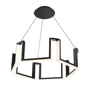 Compare Gotham 1-Light LED Geometric Chandelier By Modern Forms