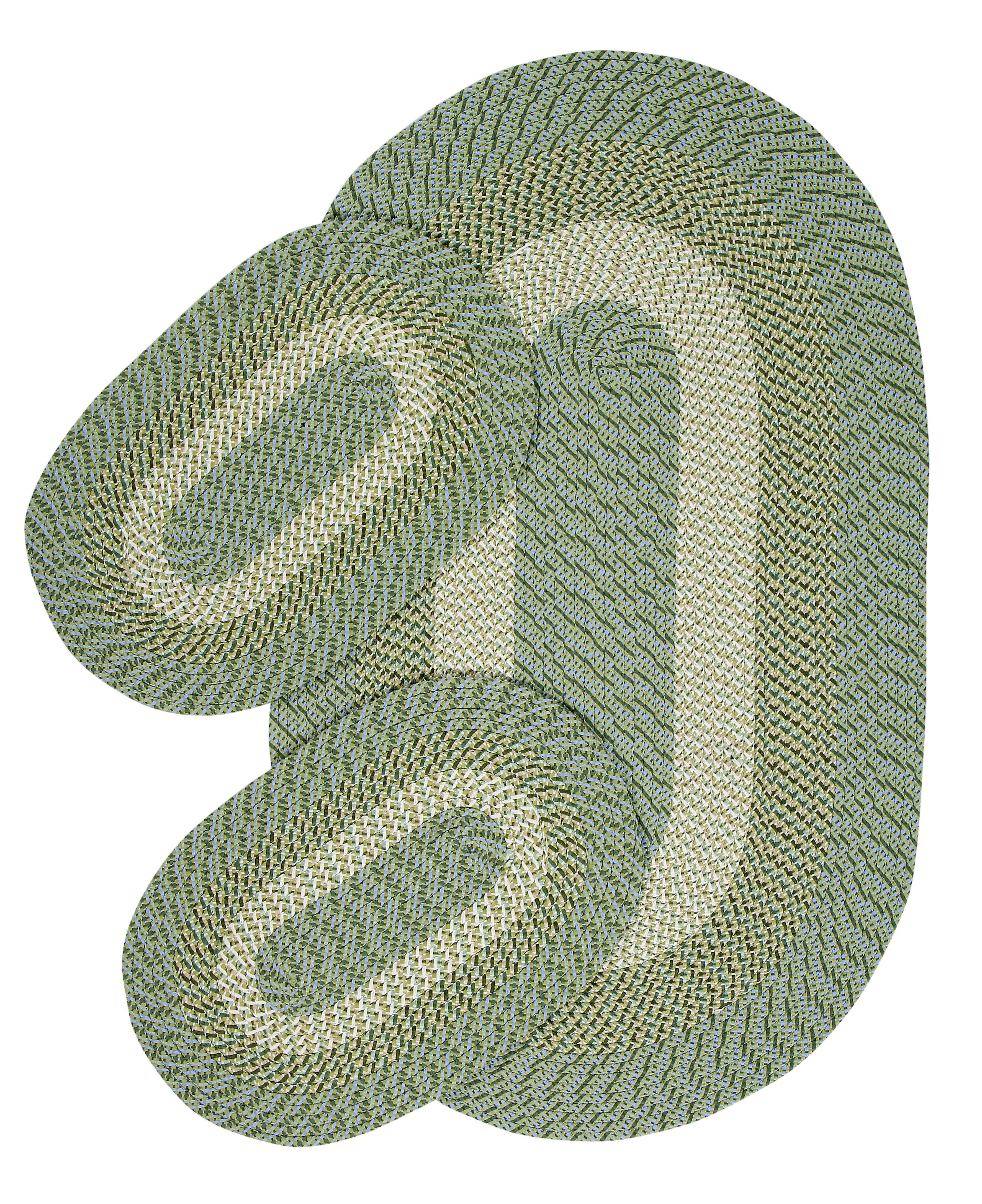 0574a49ce1 August Grove McClure 3 Piece Hand-Braided Sage Area Rug | Wayfair