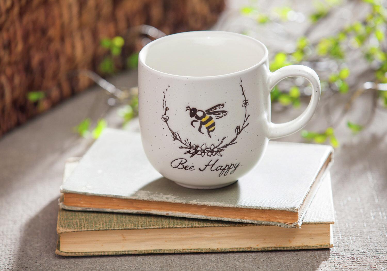 Gracie Oaks Bickley Bee Sayings Be Happy Coffee Mug Wayfair