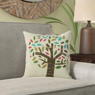 Glaucio Diverse Tree Jute Throw Pillow (Set of 2)