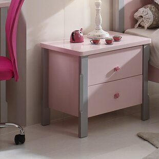 Cindy 2 Drawer Bedside Table by Vipack