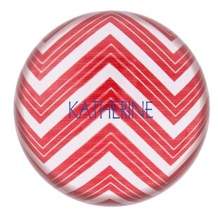 Cathys Concepts Personalized Chevron Domed Glass Paperweight