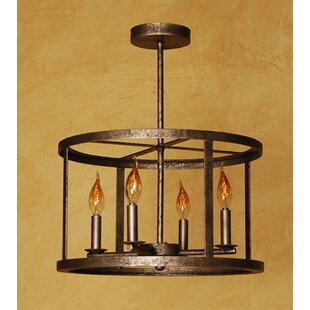 Laura Lee Designs Vento 4-Light Drum Chandelier