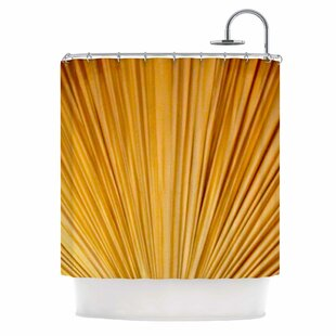 'Golden Curtains' Shower Curtain by East Urban Home