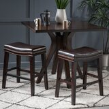 Nobhill Studded Leather Saddle 26.15 Bar Stool (Set of 2) by Winston Porter
