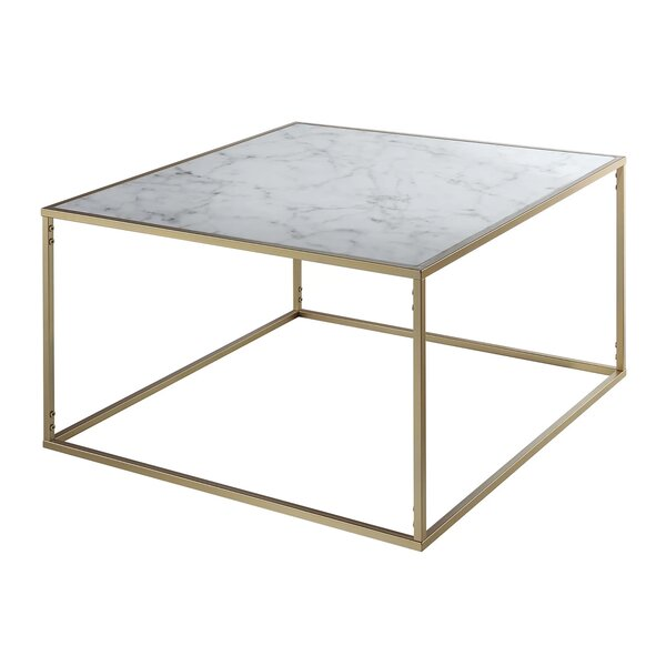 Sled Marble Granite Top Coffee Tables
