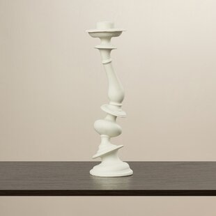 Edwin Resin/Marble Dustortion Candlestick (Set of 2)