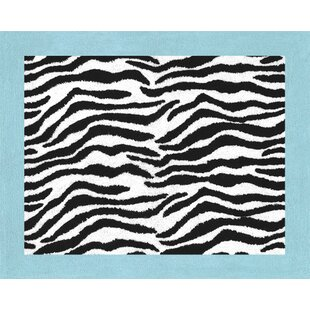 Reviews Zebra Floor Turquoise Area Rug By Sweet Jojo Designs