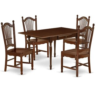 Willia Drop Leaf Solid Wood Dining Set by Ophelia amp Co
