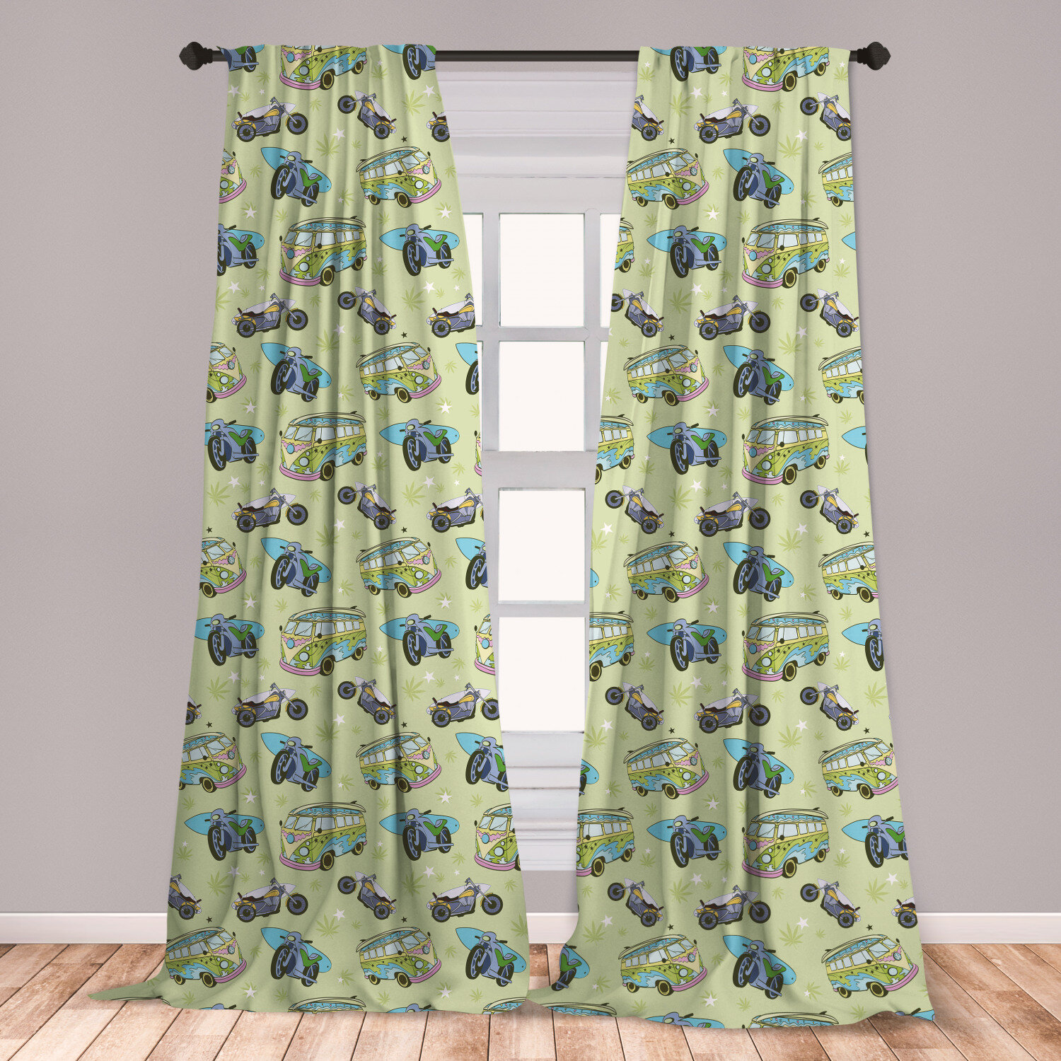 East Urban Home Hippie Room Darkening Rod Pocket Curtain Panels Wayfair