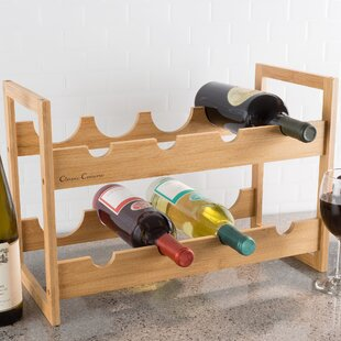 Bamboo 8 Bottle Floor Wine Rack by Classi..