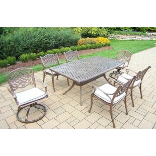 Oakland Living Mississippi 7 Piece Dining Set with Cushions