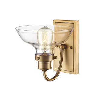 Best Reviews Lydia 1-Light Armed Sconce By Breakwater Bay