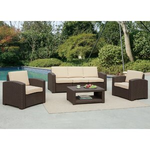 Antoinette 4 Piece Coastal Deep Seating Group with Cushion