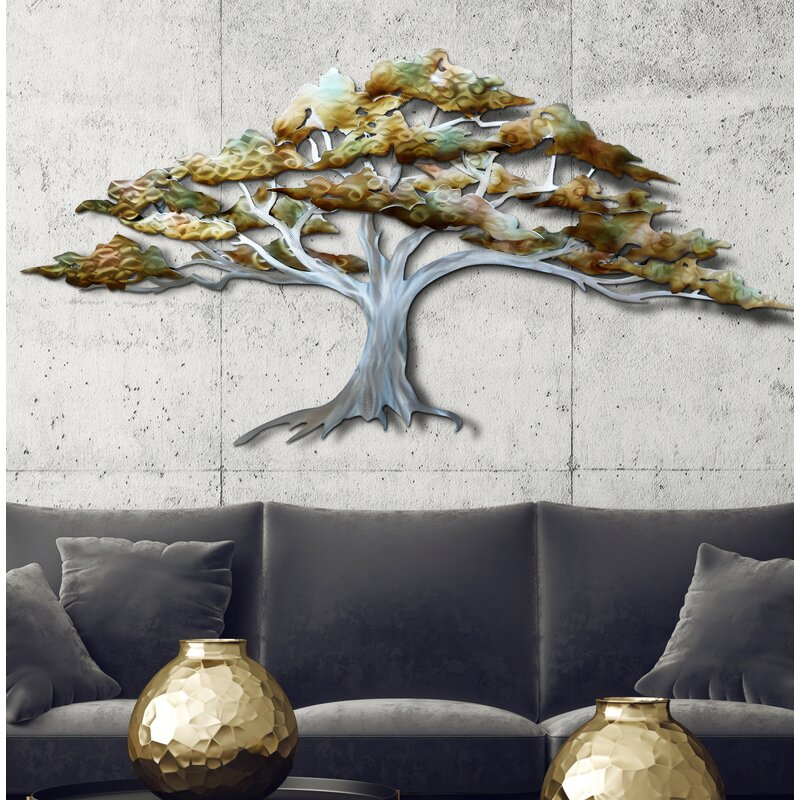 Bloomsbury Market Tree Metal Wall Decor Reviews Wayfair