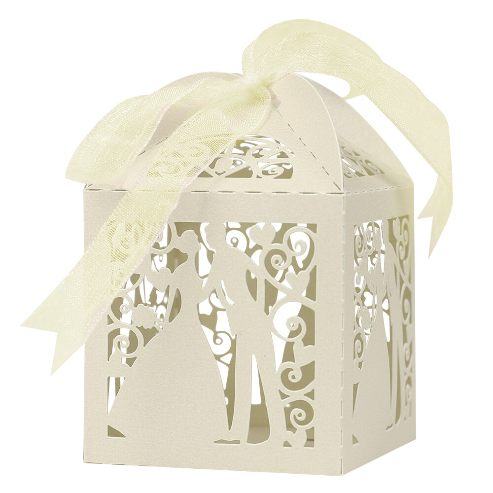 Anminy 50 Pcs Candy Box Wedding Favor Sweet Gift Bags Wayfair