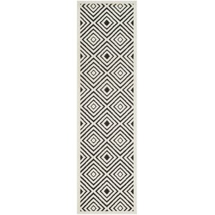 Best Reviews Woodford Cream/Anthracite Indoor/Outdoor Area Rug ByGeorge Oliver
