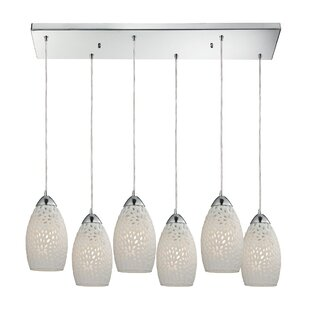 Knighten Etched Glass 6-Light Cluster Pendant by Latitude Run