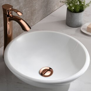 Price Check Egret Series Glass Circular Vessel Bathroom Sink By ANZZI