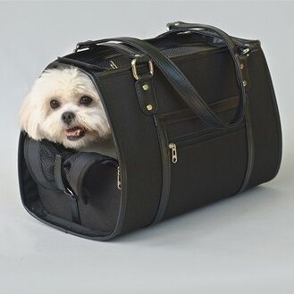 Petote Payton Black Dog Carrier Petote