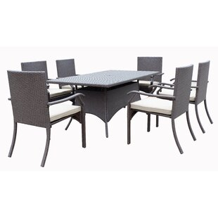 Darby Home Co Azusa 7 Piece Dining Set with Cushion