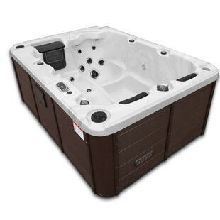 Montreal 28-Jet Plug And Play Hot Tub With Waterfall By Canadian Spa Co