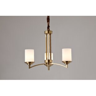 Sutliff 3-Light Shaded Chandelier by Charlton Home