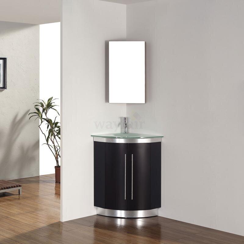 corner sink bathroom. diara 31 single corner bathroom vanity set with mirror sink v