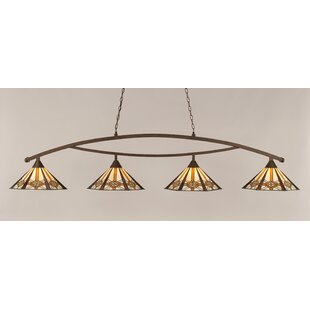 Essonnes 4-Light Metal Billiard Light by Loon Peak