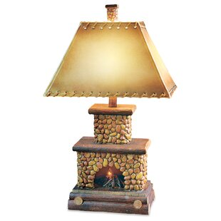 Danielle Stone Fireplace 26 Table Lamp