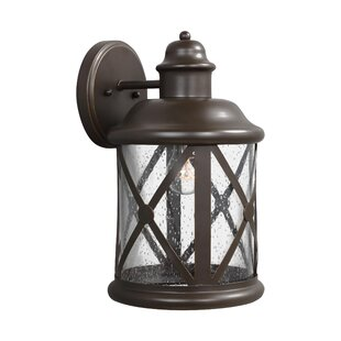Best Reviews Falmouth 1-Light Outdoor Wall Lantern By Breakwater Bay
