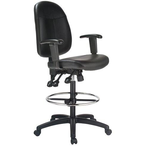 harwick high back leather drafting chair wayfair