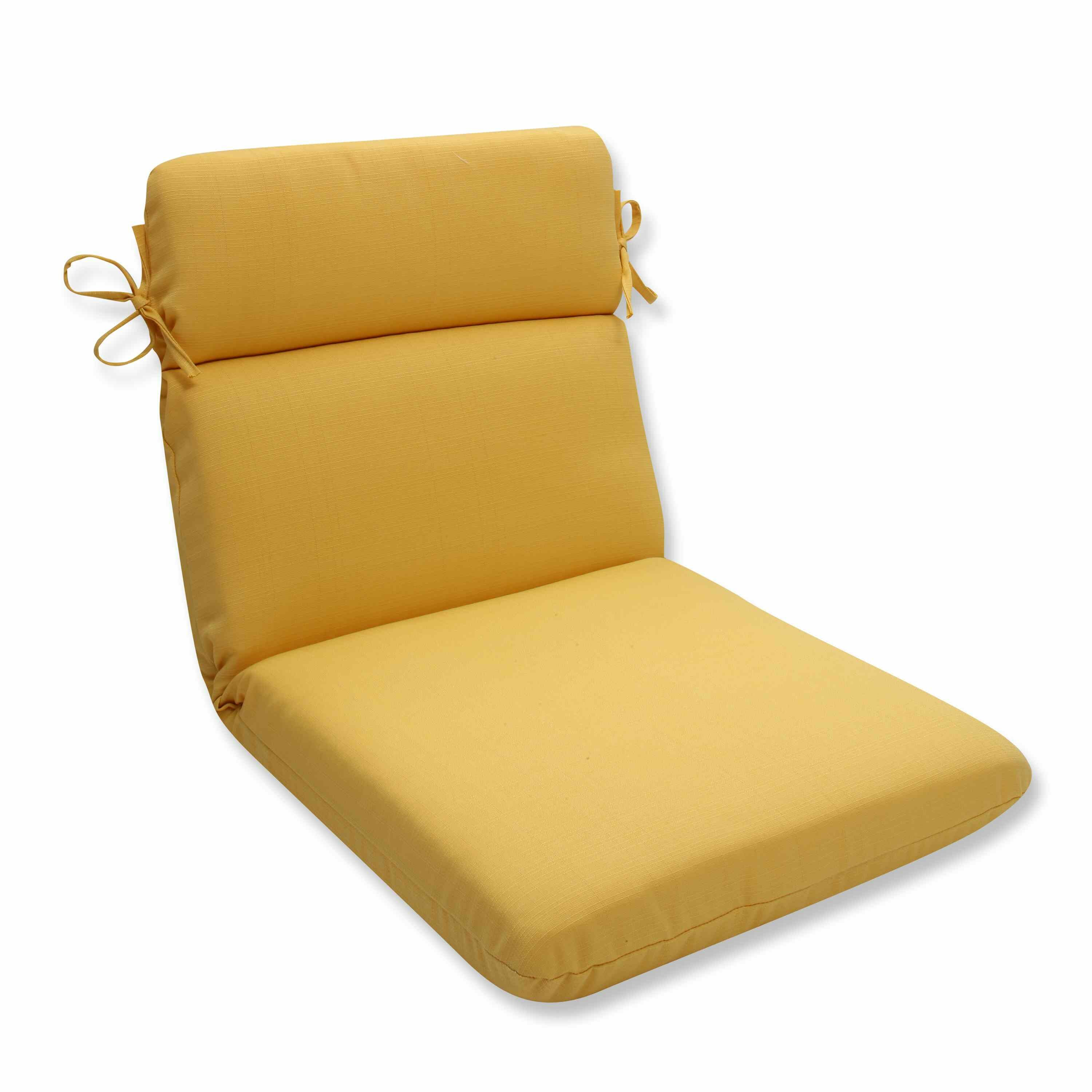 Highland Dunes Yellow Indoor Outdoor Dining Chair Cushion Reviews Wayfair