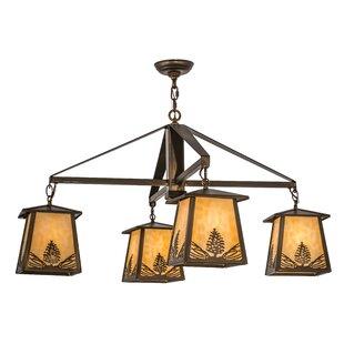 Meyda Tiffany Stillwater Mountain Pine 4-Light Shaded Chandelier