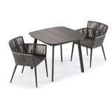 Basti Nette 3 Piece Dining Set with Cushions