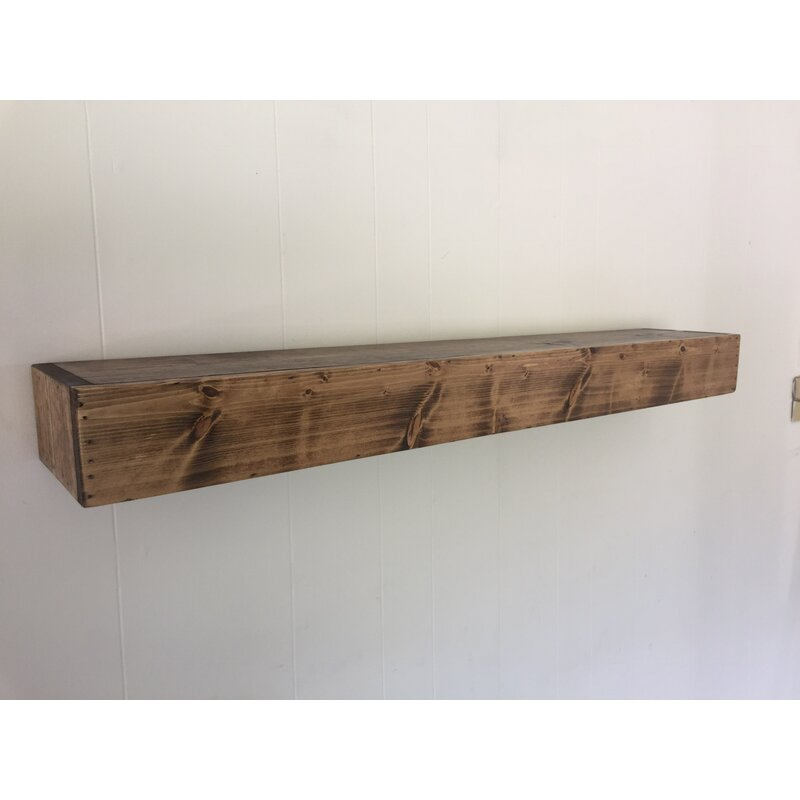 Wadebridge Wood Floating Shelf by Three Posts