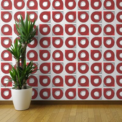 Geometric Red Wallpaper You Ll Love In 2019 Wayfair