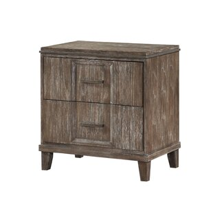 Gracie Oaks Coline 2 Drawer Nightstand wi..