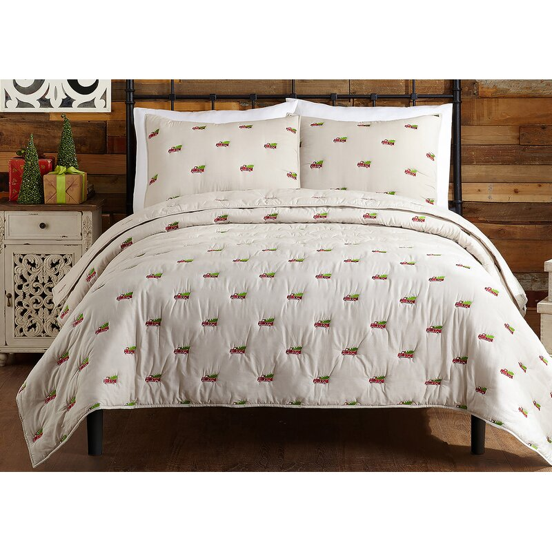 Laurel Foundry Modern Farmhouse Holiday Wagon And Tree Quilt Set Reviews
