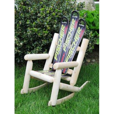 Snow Wood Rocking Adirondack Chair Ski Chair Style: Black Fisher