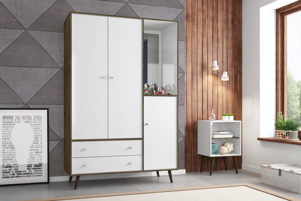 lewis wood mid century modern armoire. george oliver lewis wood mid century modern armoire  reviews
